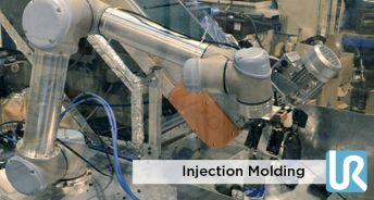 Injection molding by collaborative robot